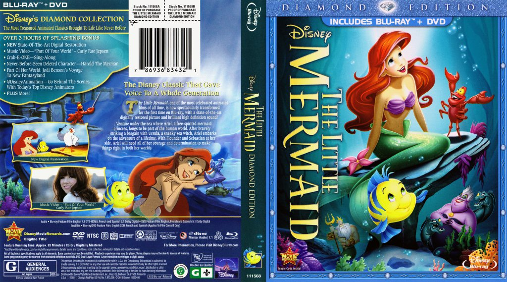 The Little Mermaid - Movie Blu-Ray Scanned Covers - Little ...