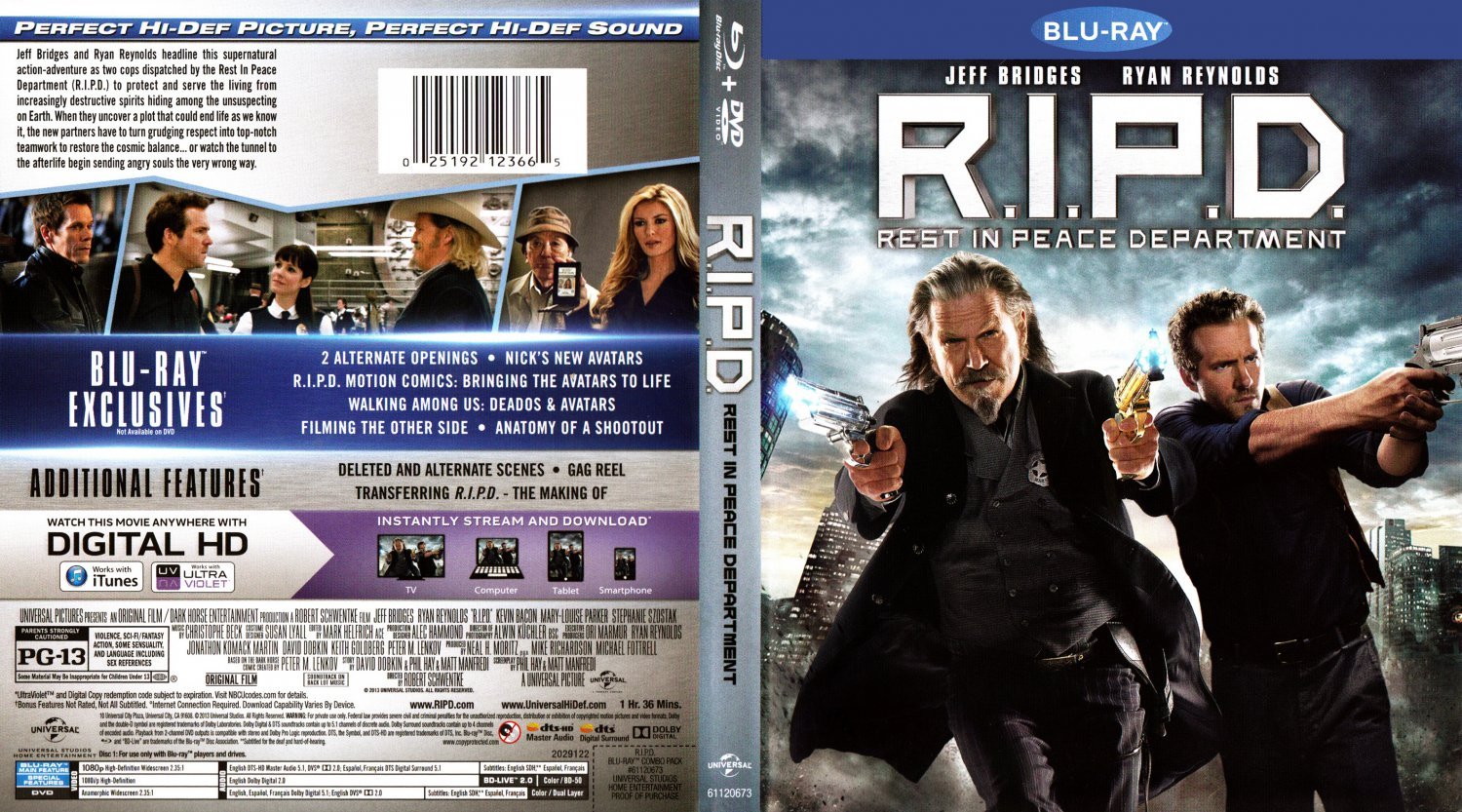 R.I.P.D. - Movie Blu-Ray Scanned Covers - R I P D 2013 ... R.i.p.d. Dvd
