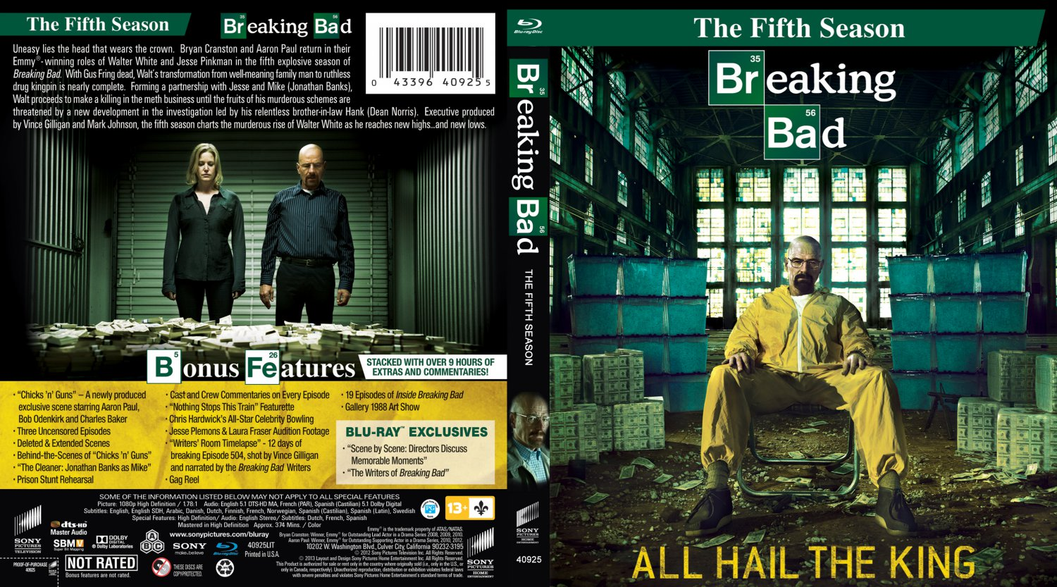 breaking bad season 5 tv bluray scanned covers