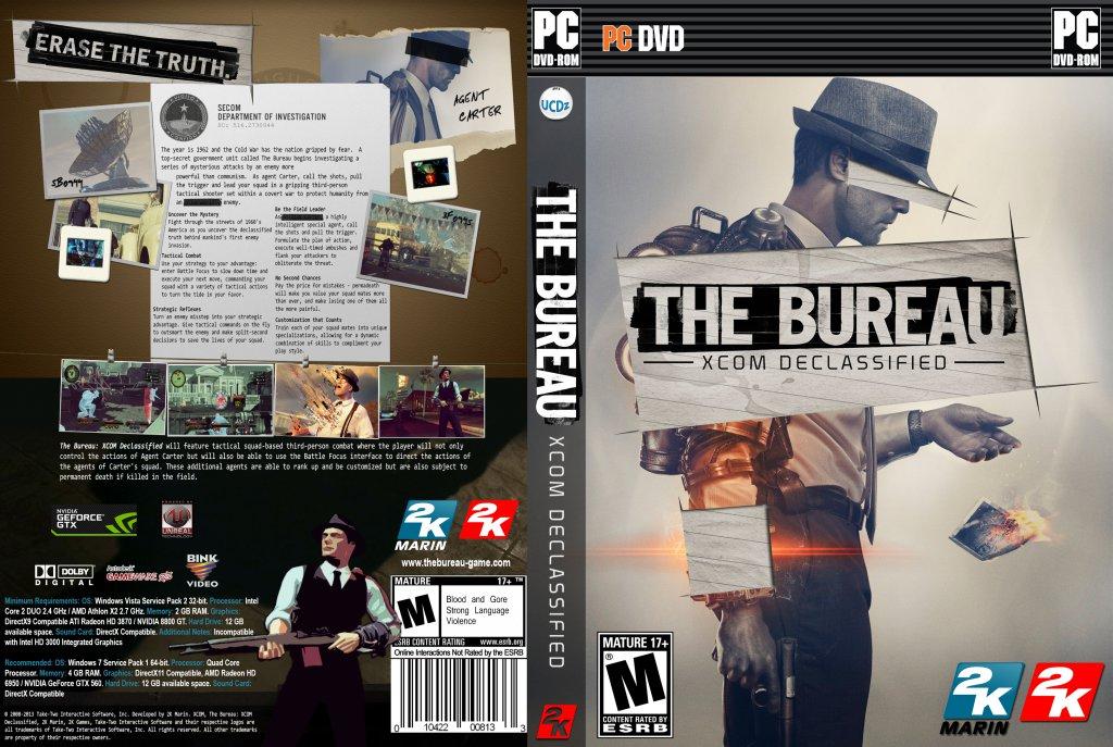 the bureau xcom declassified pc game covers the bureau. Black Bedroom Furniture Sets. Home Design Ideas