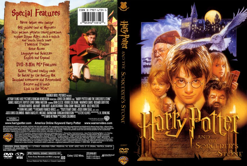 harry potter and the sorcerers stone movie dvd custom