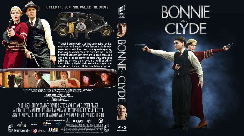 bonie and clyde Telling the story of notorious armed robbers bonnie parker and clyde barrow, this oscar nominated script was actually offered to both truffaut and godard, but even they could not have done a better job.