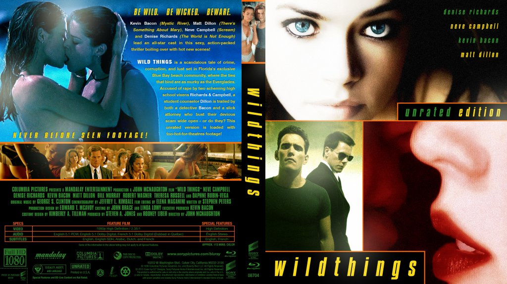 Wild Things - Movie Blu-Ray Custom Covers ...