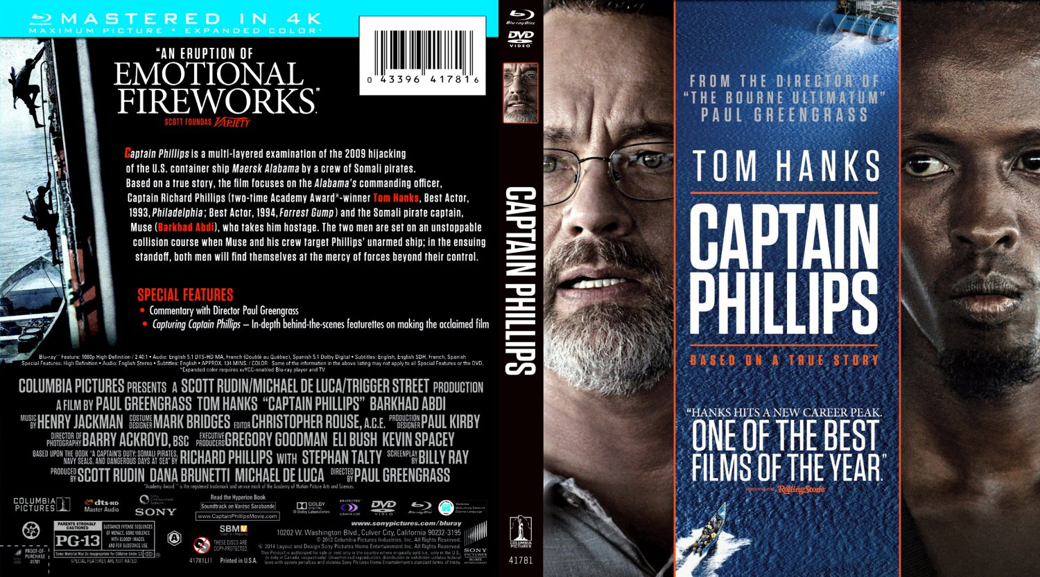 Captain Phillips - Movie Blu-Ray Scanned Covers - captain ...