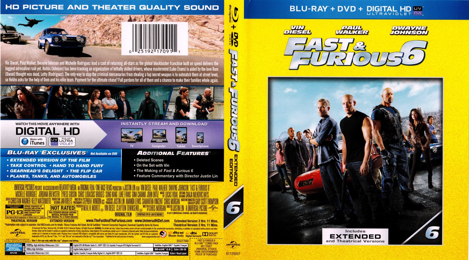 fast furious 6 movie blu ray scanned covers fast furious 6 2013 scanned bluray dvd cover. Black Bedroom Furniture Sets. Home Design Ideas