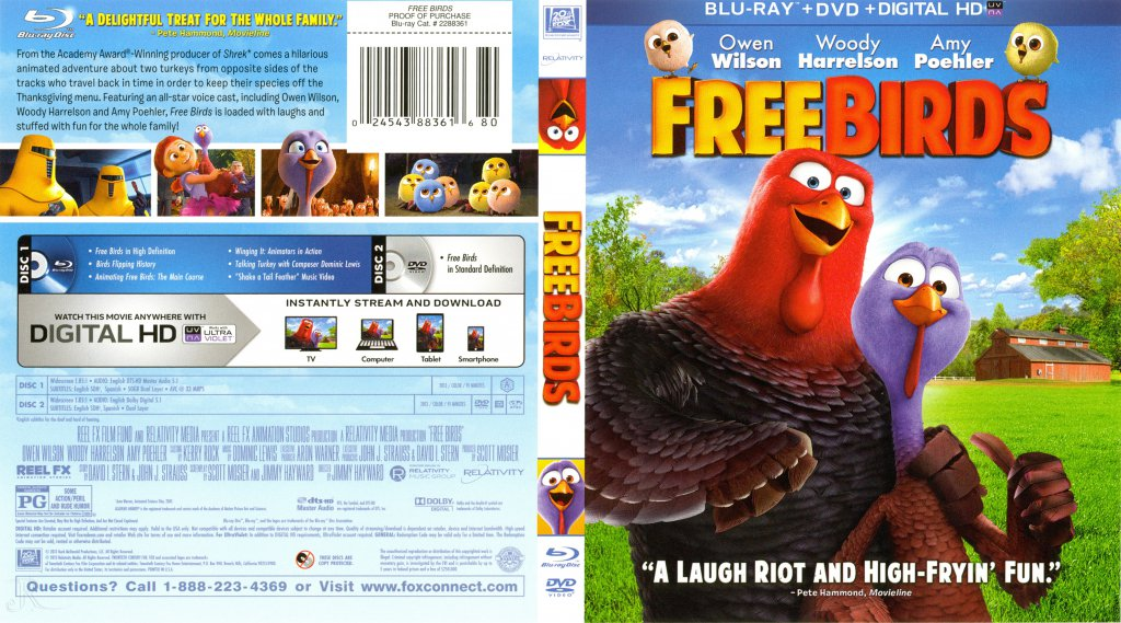Free Birds - Movie Blu-Ray Scanned Covers - Free Birds ...
