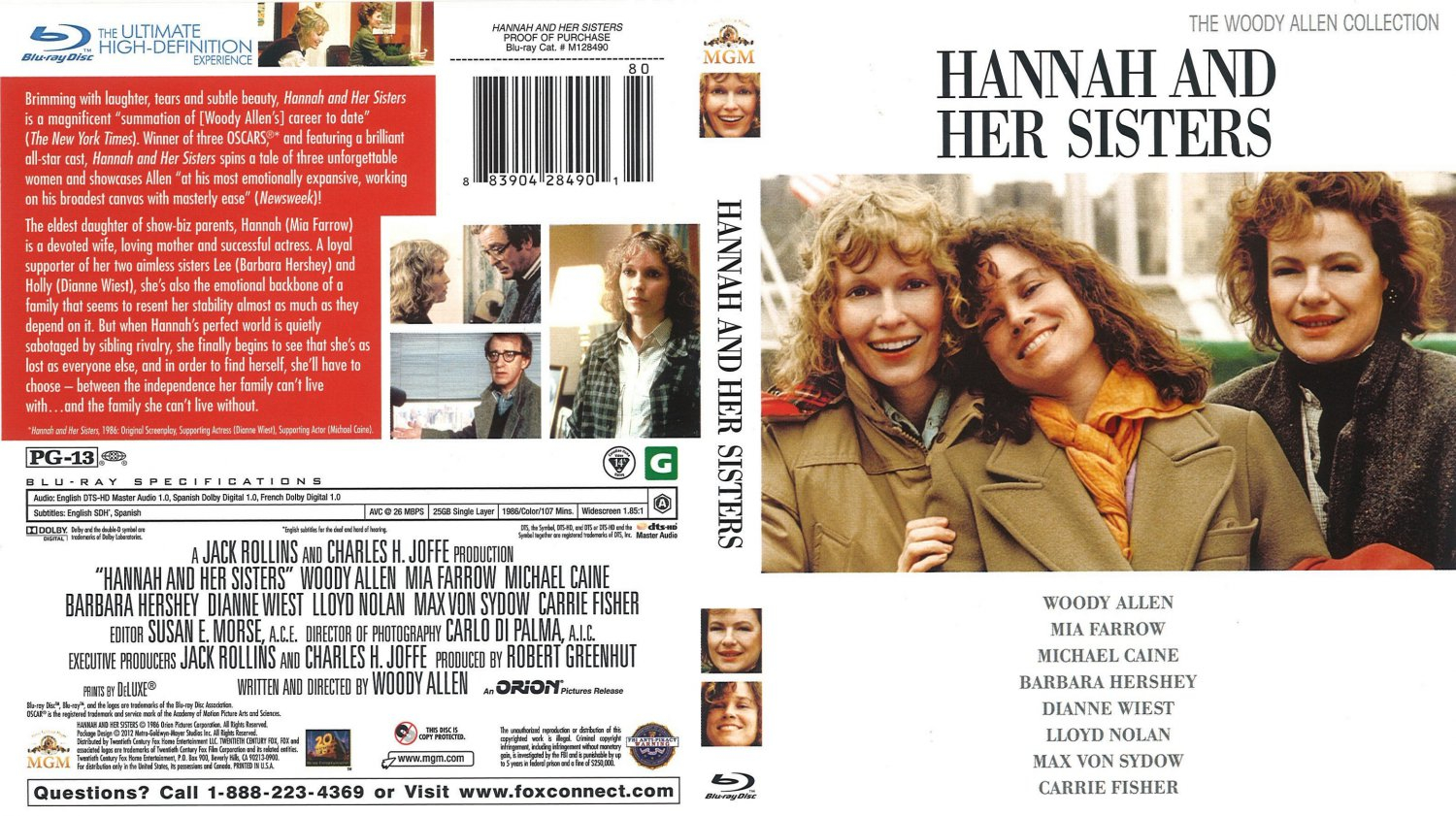 Hannah And Her Sister - Movie Blu-Ray Scanned Covers ...
