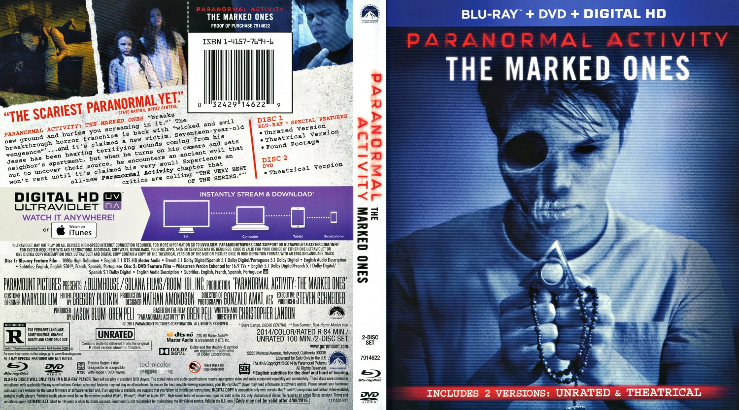 paranormal activity marked ones dvd cover - photo #9