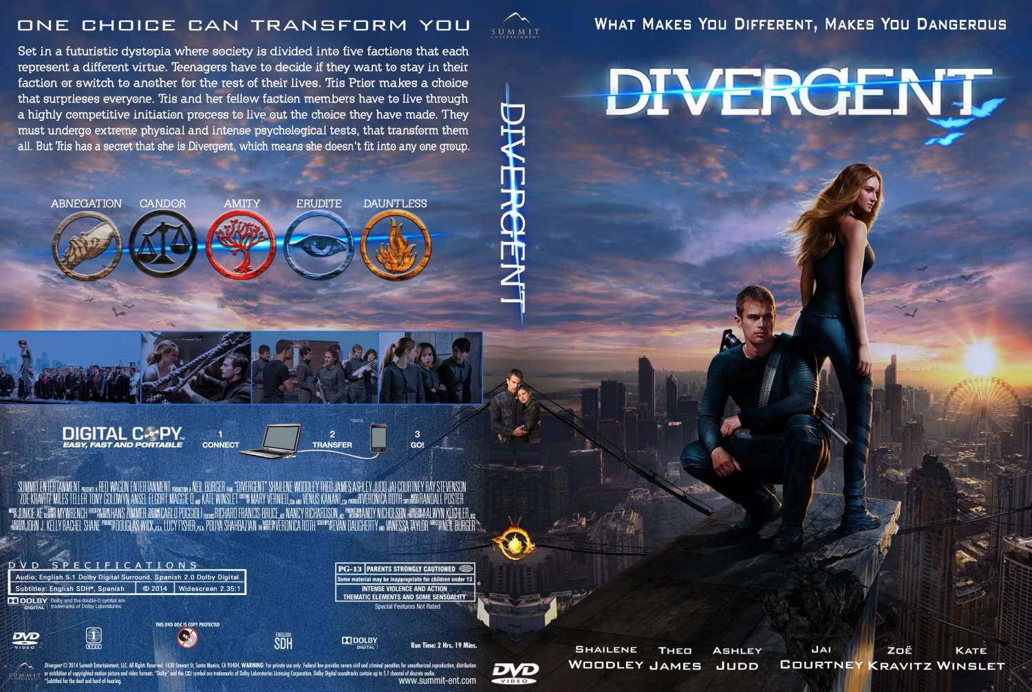 Divergent Dvd cover Re...