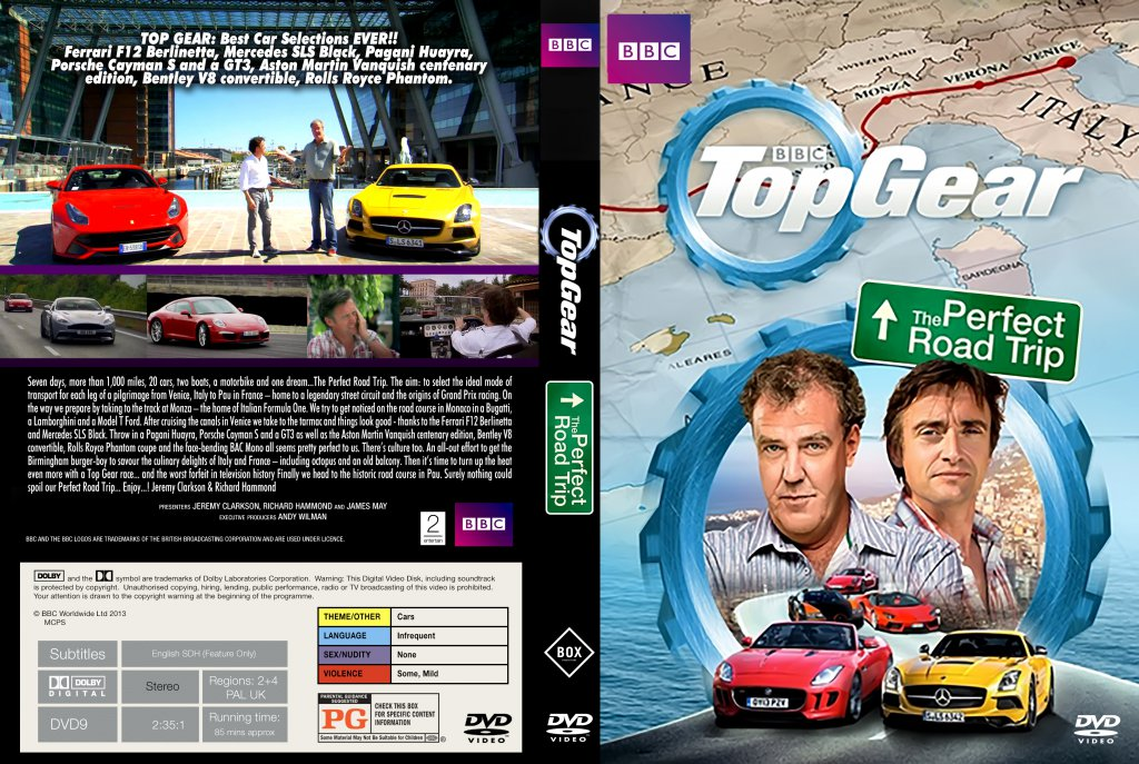 top gear the perfect road trip movie dvd custom covers top gear the perfect road trip. Black Bedroom Furniture Sets. Home Design Ideas