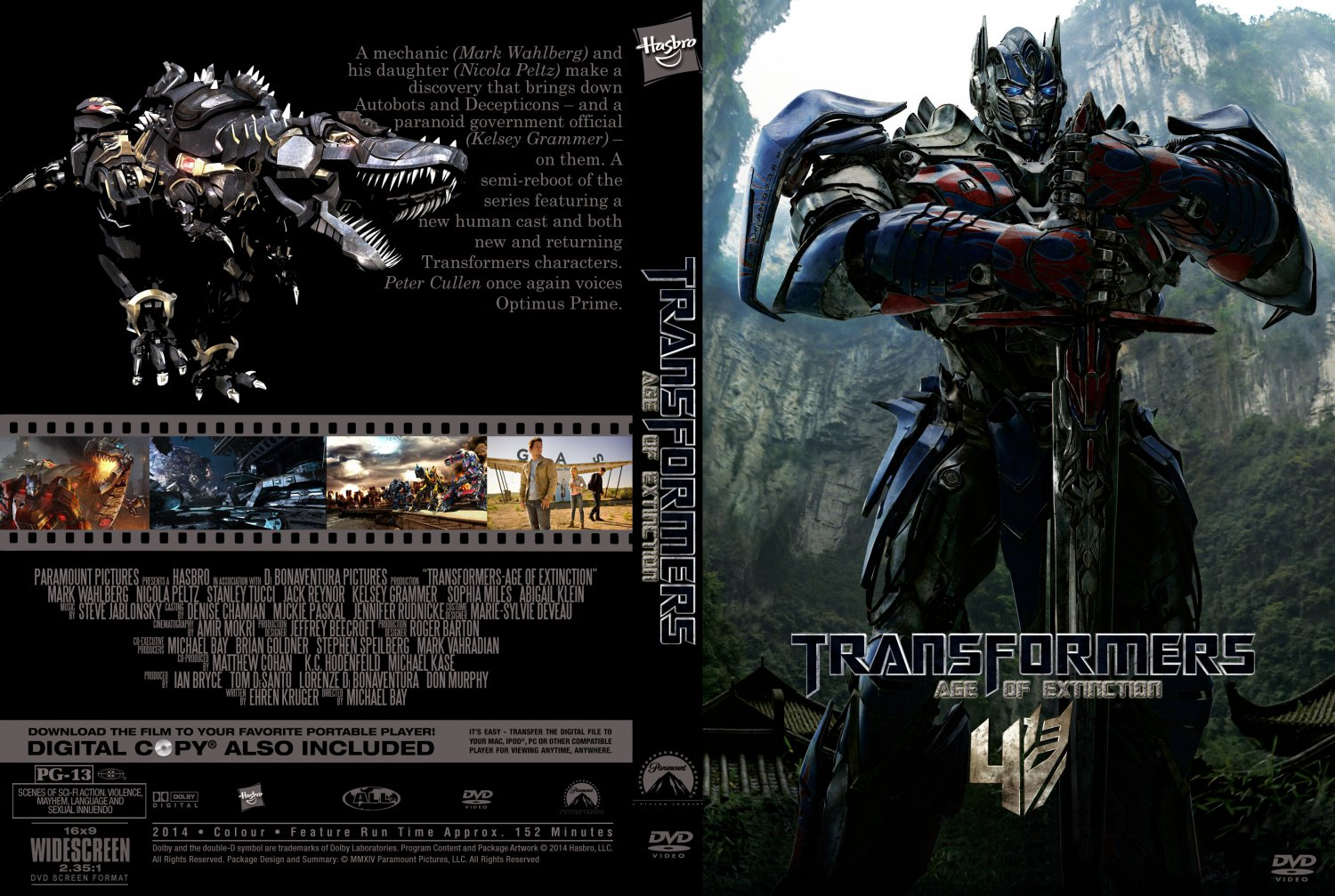 Transformers - Age Of Extinction - Movie DVD Custom Covers ...