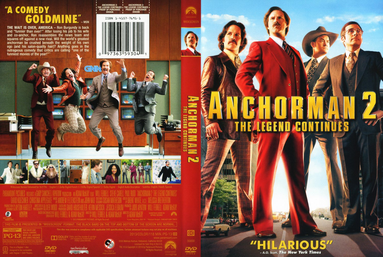 anchorman 2 the legend continues movie dvd scanned