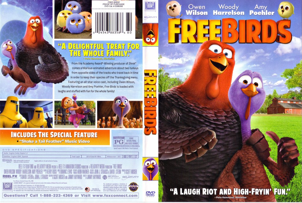 Free Birds - Movie DVD Scanned Covers - Free Birds 2013 ...