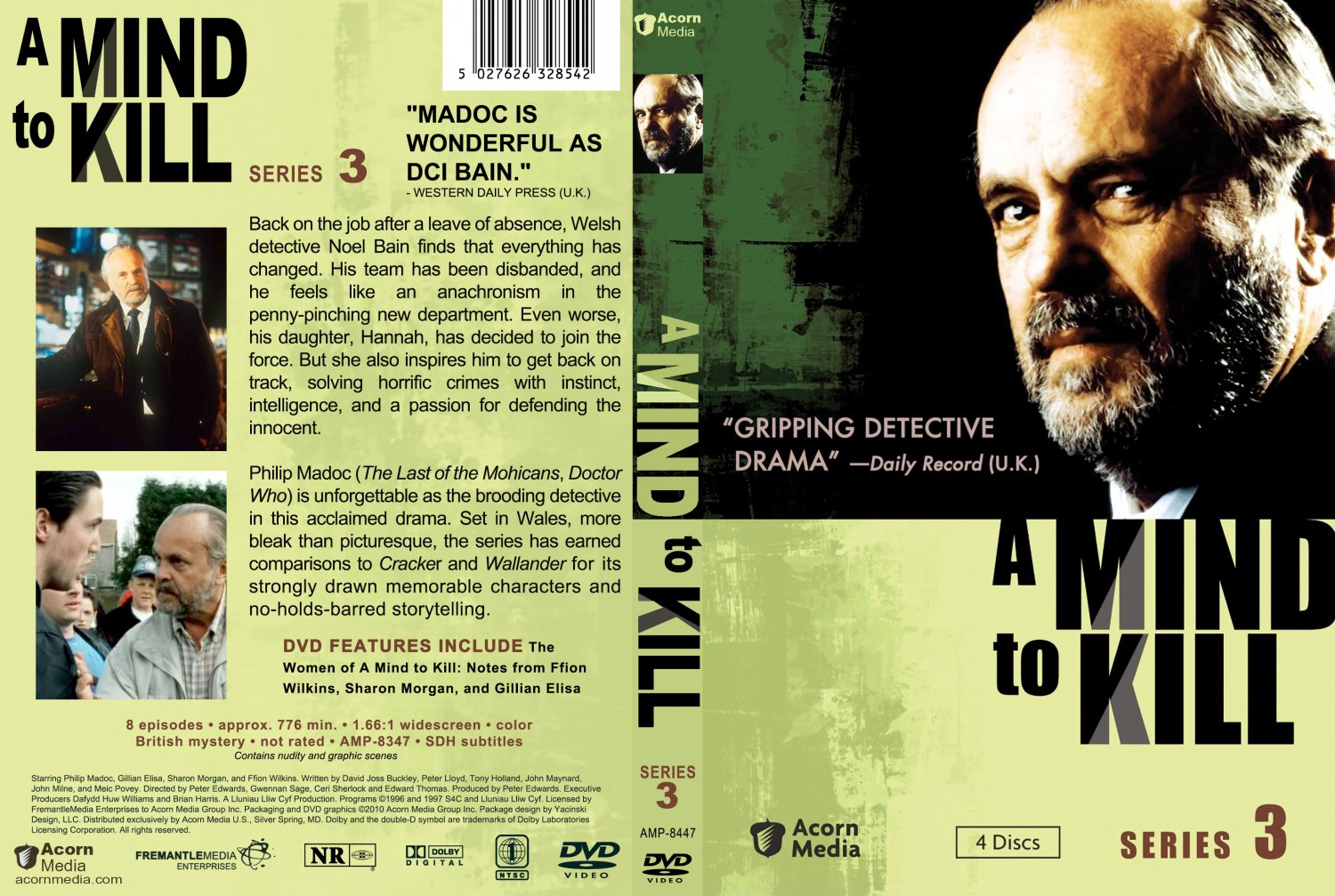 A Mind to Kill - Season 3 - TV DVD Custom Covers - AMTK-S3 :: DVD Covers