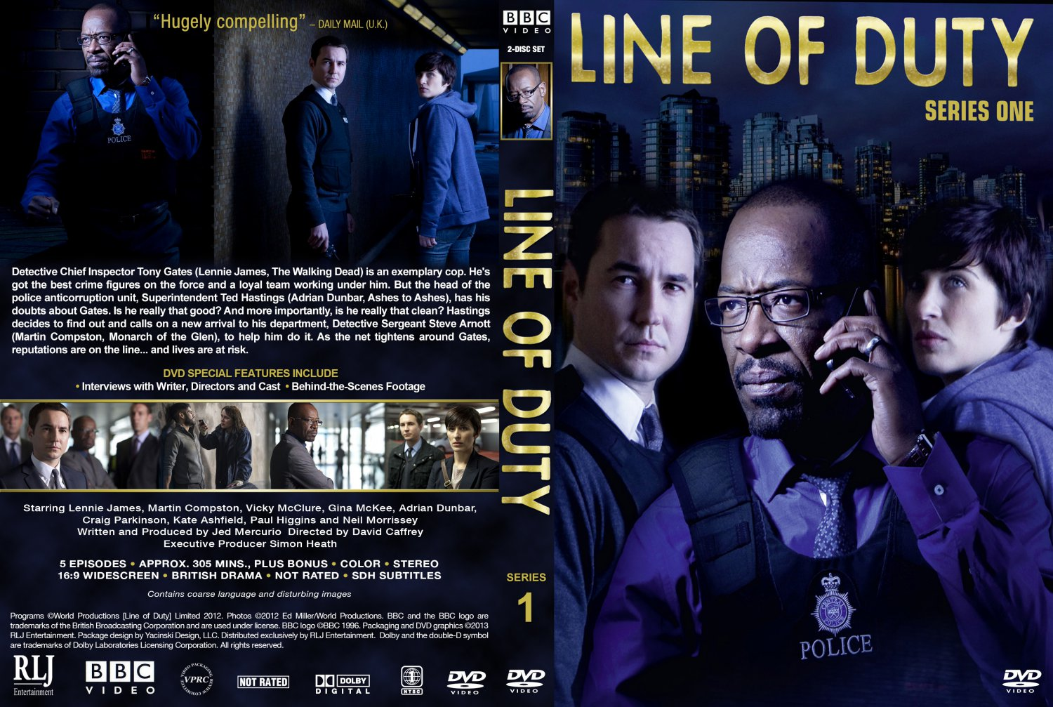 Line of Duty - Series 1 - TV DVD Custom Covers - Line of Duty-S1 ...