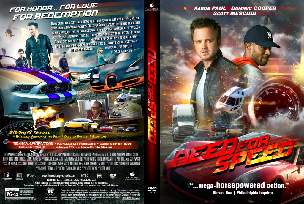 Need For Speed - Movie DVD Custom Covers - NEED for SPEED ...