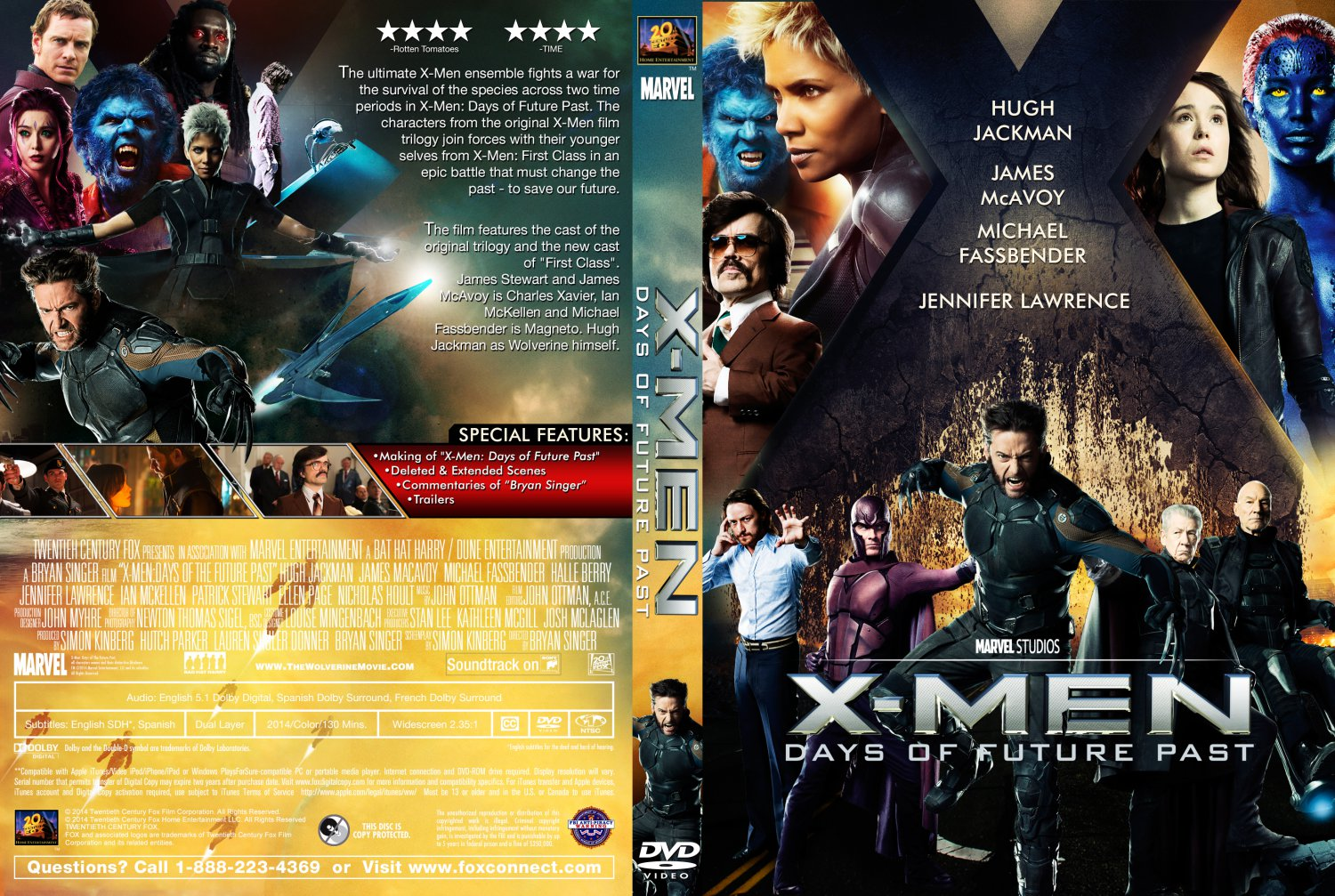 XMen Days of Future Past DVD Cover 2014 R1