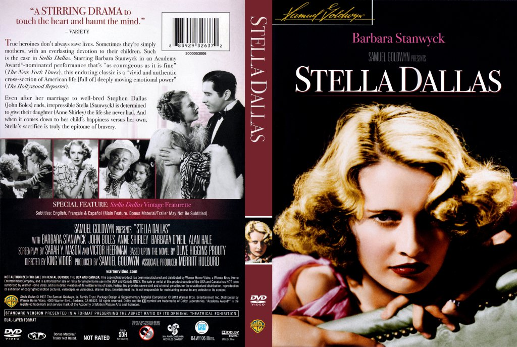 film review stella dallas Out of love and concern, a woman gives up her daughter to a wealthy couple.