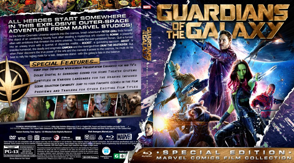 Guardians Of The Galaxy - Movie Blu-Ray Custom Covers ...