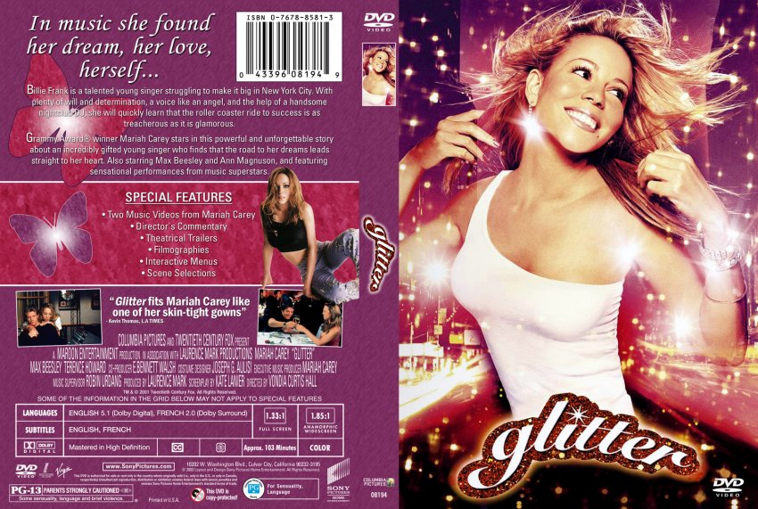 Glitter - Movie DVD Cu... Mariah Carey