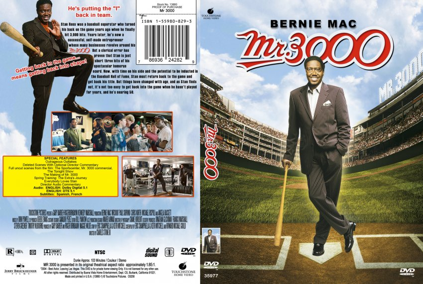 Mr 3000 - Movie DVD Custom Covers - 416Mr 3000 mft :: DVD ...