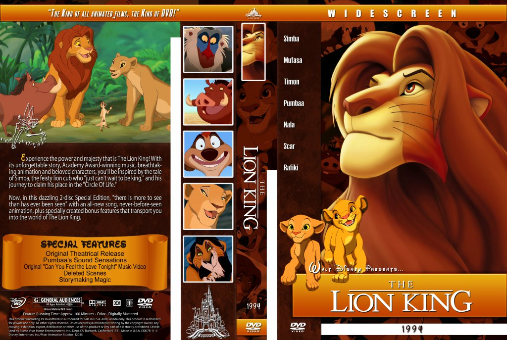 film techniques the lion king The lion king is a tony and olivier award-winning musical based on the 1994 animated film of the same name with music by elton john and lyrics by tim rice.