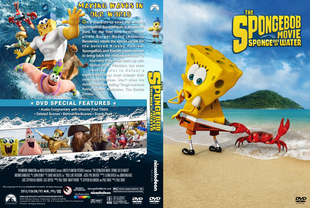 Spongebob Sponge Dvd Movie Out Of Water | Devdas Angers