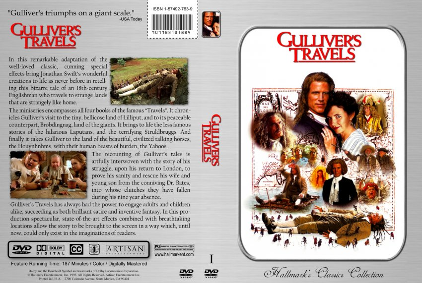 Gulliver S Travels Book Cover Drawing : Gulliver s travels movie dvd custom covers