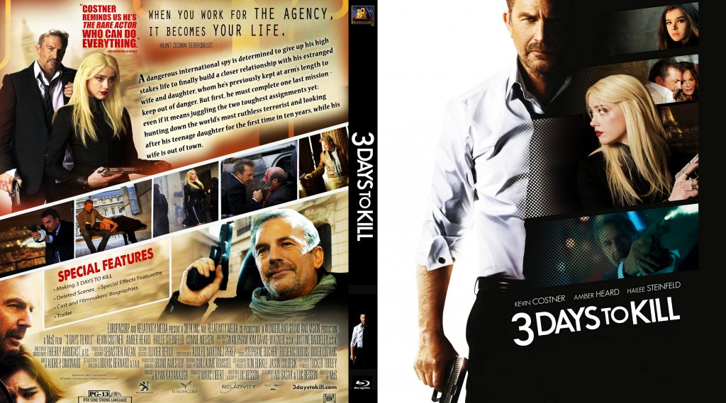 3 Days To Kill - Movie Blu-Ray Scanned Covers - 3 Days To ...