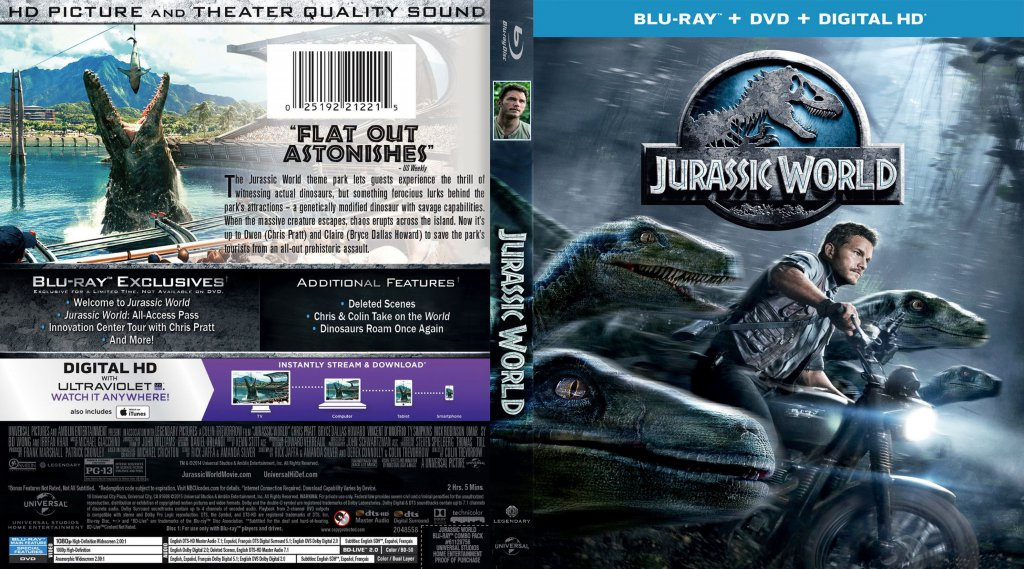 jurassic world movie blu ray scanned covers jurassic. Black Bedroom Furniture Sets. Home Design Ideas
