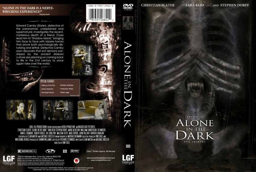 Alone In The Dark Movie Dvd Custom Covers 432alone In The Dark