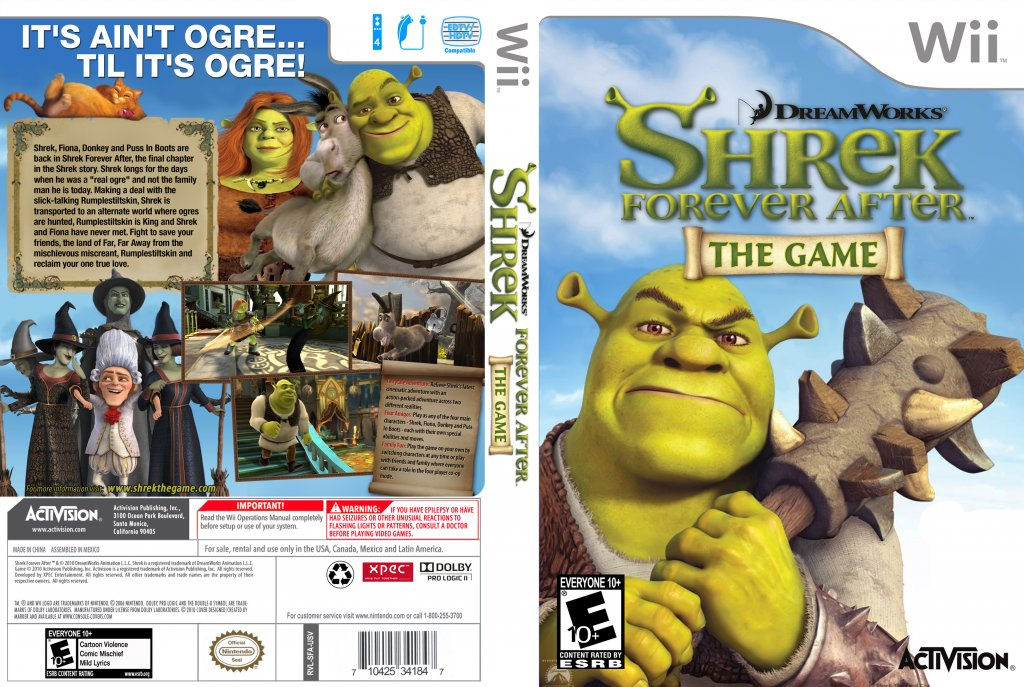 Shrek Forever After The Game 2010 Nintendo Wii Iso