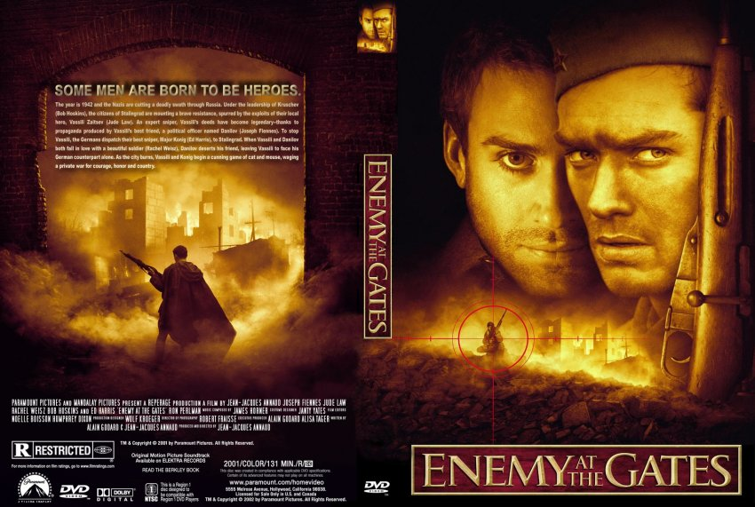 Enemy At The Gates - Movie DVD Custom Covers - 447Enemy At ...