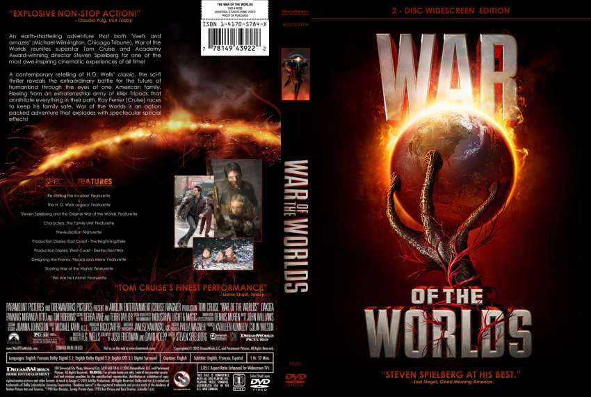 War Of The Worlds - Movie DVD Custom Covers ...