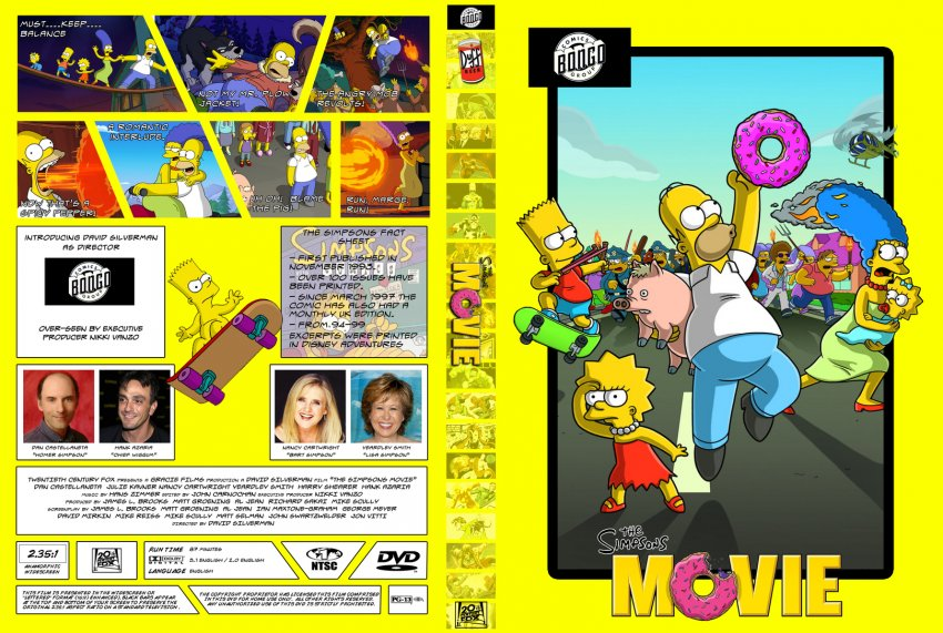 The Simpsons Movie Movie Dvd Custom Covers 475the Simpsons Dvd Covers