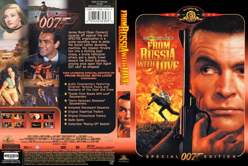 from russia with love special 007 edition movie dvd