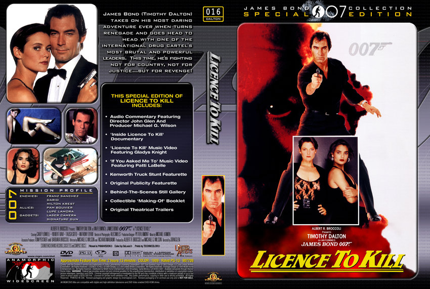 Licence To Kill - Movie DVD Custom Covers - 4James Bond ...
