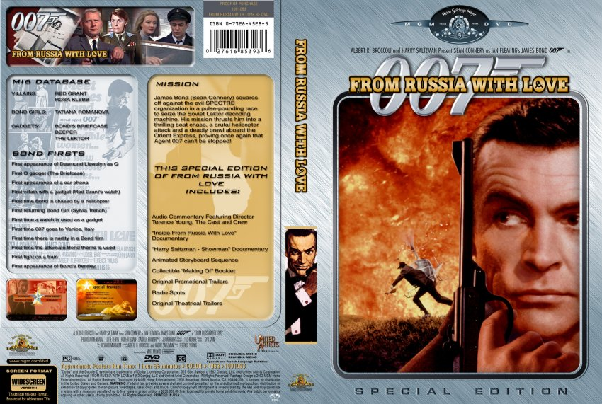 from russia with love movie dvd custom covers