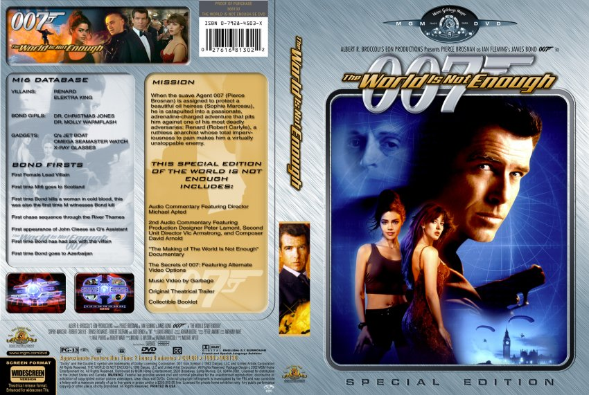 The World Is Not Enough - Movie DVD Custom Covers ... The World Is Not Enough Dvd
