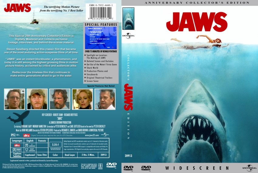 Jaws movie dvd custom covers 511111jaws dvd covers