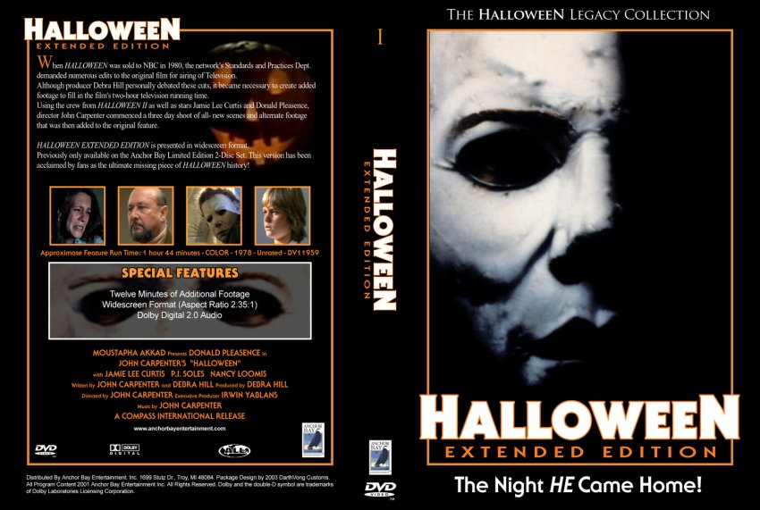 halloween movie dvd custom covers 5111halloweenex v4 cstm hires dvd covers