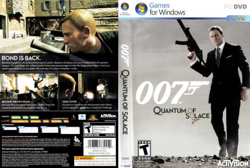 quantum of solace dvd cover - photo #28