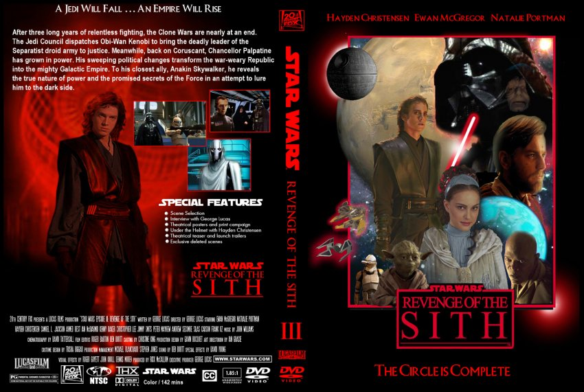 Star Wars: Revenge of the Sith - Movie DVD Custom Covers ...