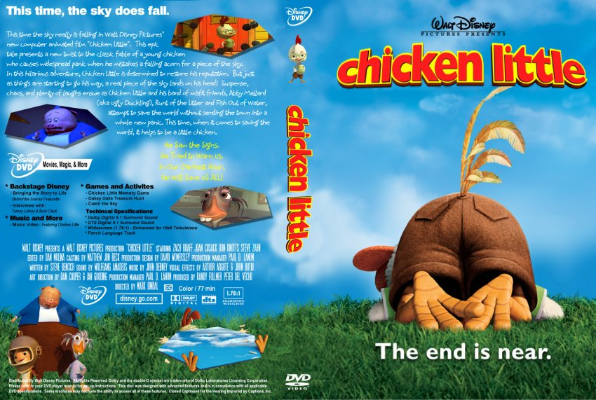 Chicken Little - Movie DVD Custom Covers - 526chicken ...