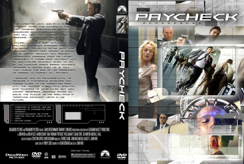 Paycheck - Movie DVD Custom Covers - 53paycheck cstm jg hires :: DVD ... Ben Affleck