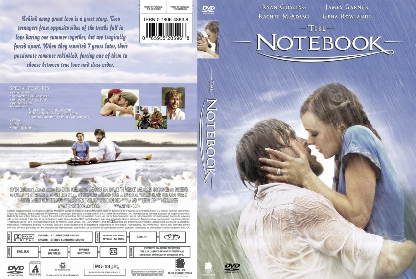 The Notebook Movie Dvd Custom Covers 53the Notebook
