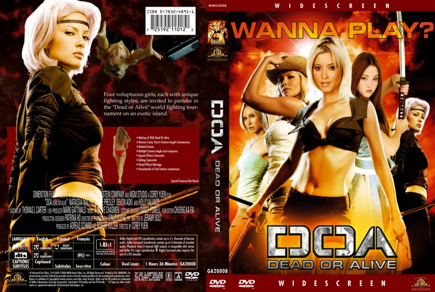 Doa Dead Or Alive Movie Dvd Custom Covers 5434doa Dead Or
