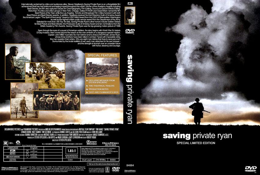Saving private ryan movie cover
