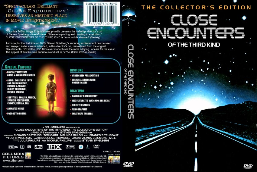 Close Encounters Of The Third Kind - Movie DVD Custom ...
