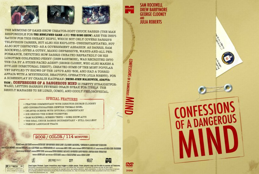 Confessions Of A Dangerous Mind - Movie DVD Custom Covers ...